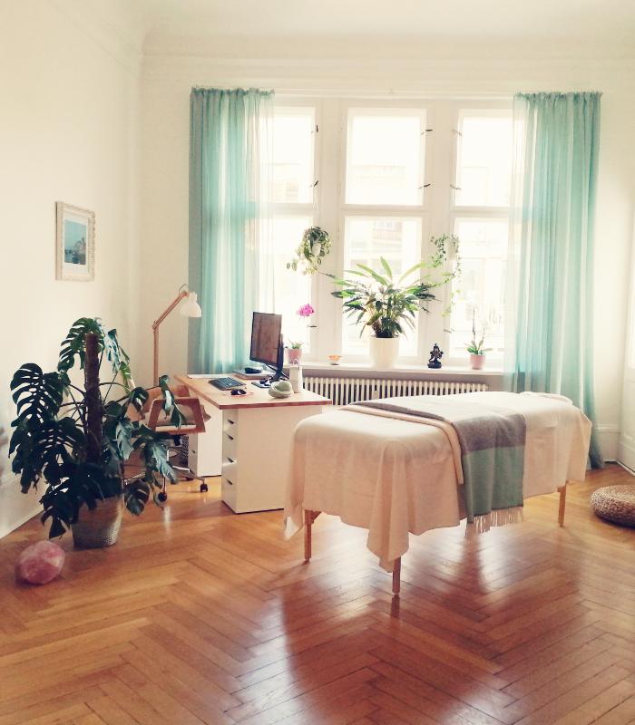 Behandlungsraum Physiotherapie, Massage, Psychotherapie